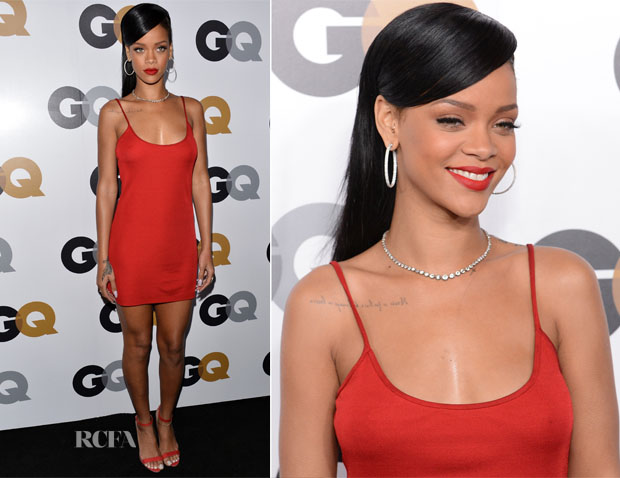 Rihanna In Calvin Klein - 2012 GQ Men of the Year Party