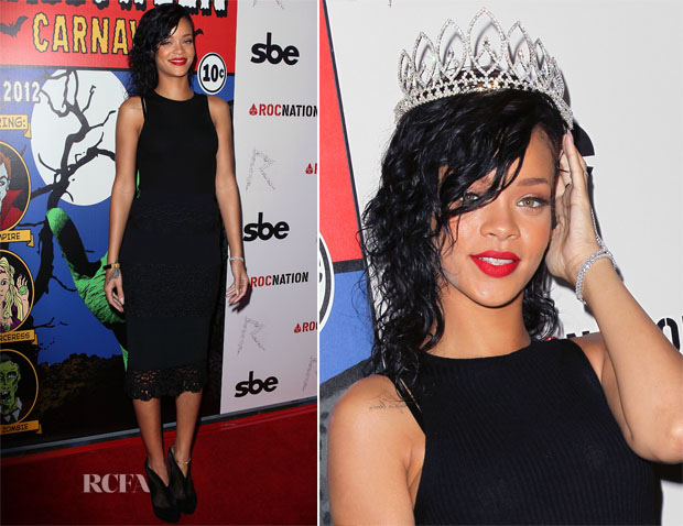Rihanna In Dolce & Gabbana - Queen of the West Hollywood Halloween Carnaval Ceremony