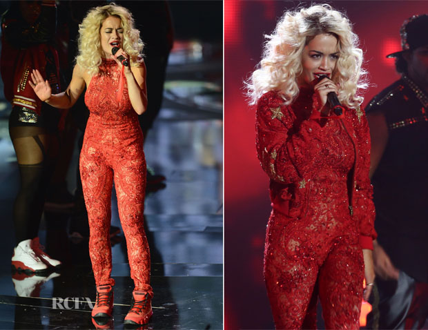 Rita Ora In Emilio Pucci - 2012 MTV EMAs Performance