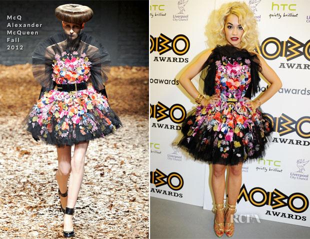 Rita Ora In McQ Alexander McQueen - 2012 MOBO Awards