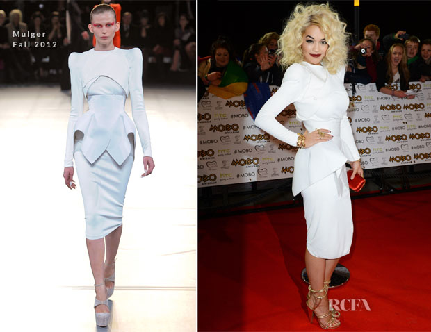 Rita Ora In Mulger - 2012 MOBO Awards