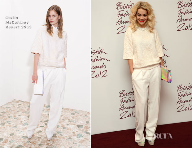Rita Ora In Stella McCartney R13 - 2012 British Fashion Awards