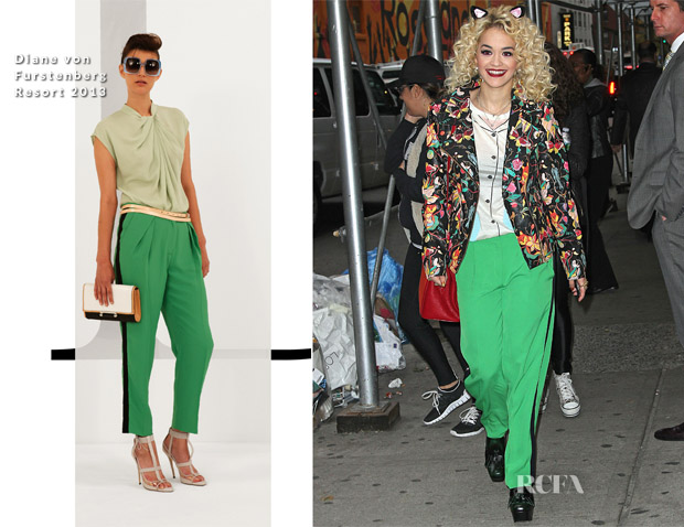 Rita Ora In Topshop & DVF - Late Show With David Letterman