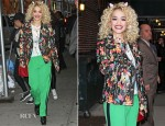 Rita Ora In Topshop & Diane von Furstenberg - Late Show With David Letterman