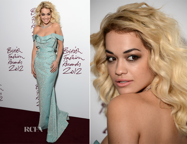 Rita Ora In Vivienne Westwood - 2012 British Fashion Awards