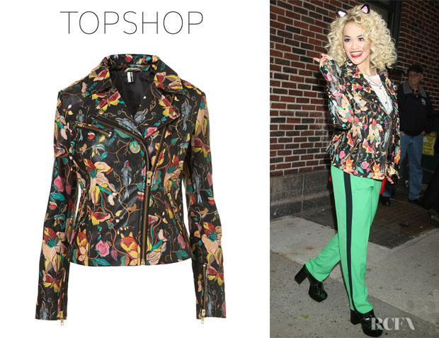 Rita Ora's Topshop Animal Biker Jacket