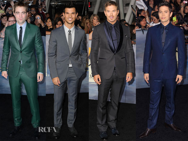 Rob Pattinson, Taylor Lautner, Kellan Lutz & Jackson Rathbone - 'The Twilight Saga Breaking Dawn – Part 2' LA Premiere