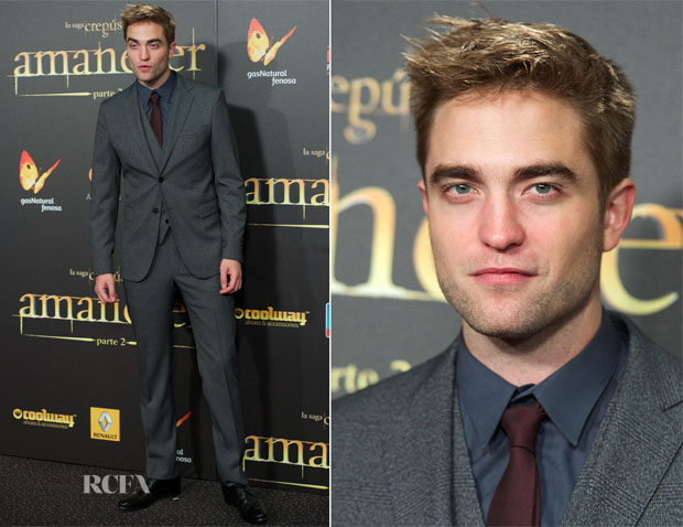 Robert Pattinson In Dolce & Gabbana - 'The Twilight Saga Breaking Dawn – Part 2' Madrid Premiere