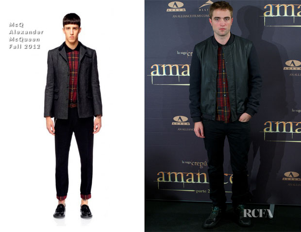 Robert Pattinson In McQ Alexander McQueen - 'The Twilight Saga Breaking Dawn – Part 2' Madrid Photocall