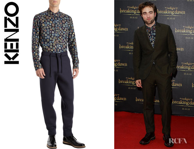 Robert Pattinson's Kenzo Medallion Print Shirt