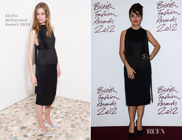 Salma Hayek Stella McCartney Resort 2013 2012 British Fashion Awards