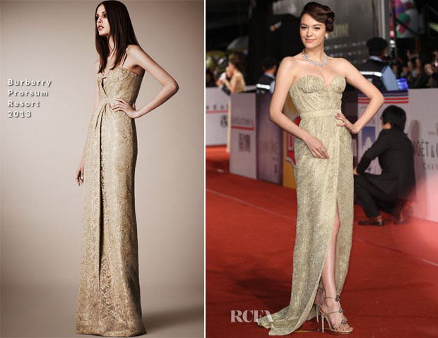 Sandrine Pinna In Burberry Prorsum - 2012 Golden Horse Awards