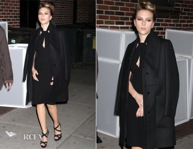 Scarlett Johansson In Giambattista Valli - Late Show with David Letterman