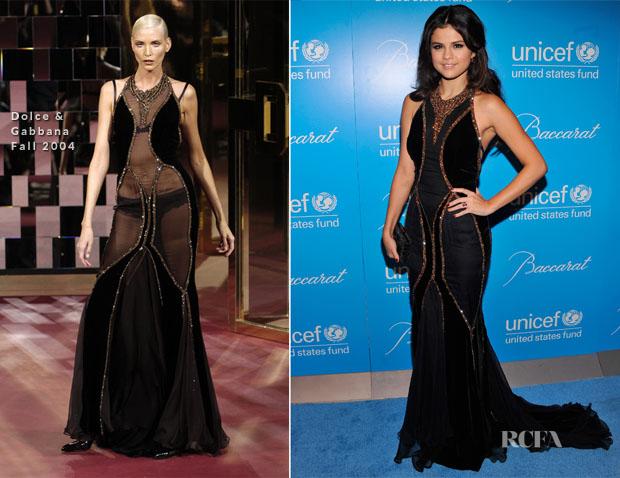 Selena Gomez In Dolce & Gabbana F04 - UNICEF Snowflake Ball