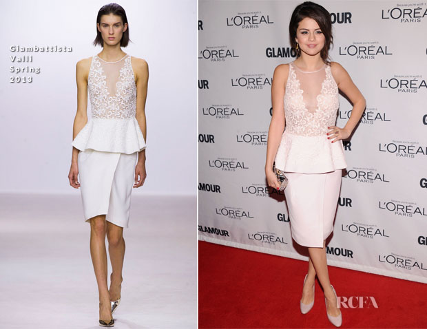 Selena Gomez In Giambattista Valli - 2012 Glamour Women of the Year Awards