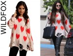 Selena Gomez' Wildfox Couture All Over Love Lennon Sweater