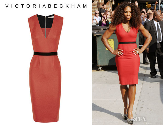Serena Williams' Victoria Beckham Belted Dress