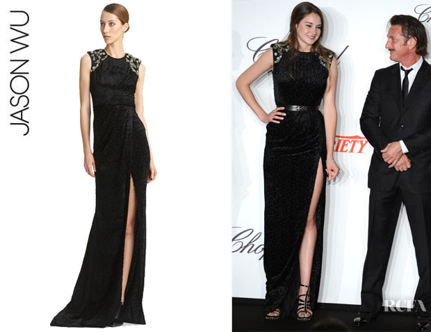 Shailene Woodley's Jason Wu Embroidered Gown