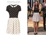 Shenae Grimes' Topshop Mix And Max Match Print Flippy Dress