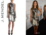 Sophia Bush's J.Mendel Paneled Floral Dress