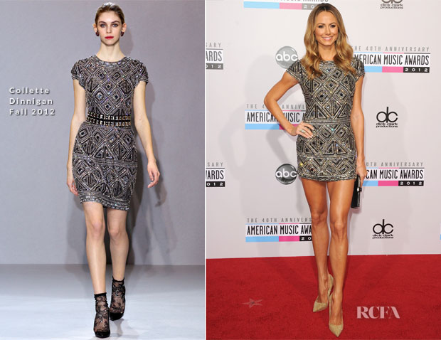 Stacy Keibler In Collette Dinnigan - 2012 American Music Awards