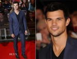 Taylor Lautner In Z Zegna - 'The Twilight Saga: Breaking Dawn – Part 2' London Premiere