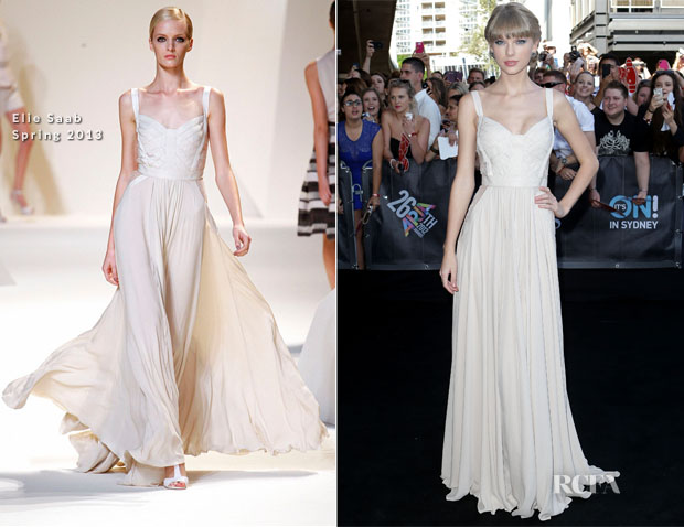 2546d70bb60 Taylor Swift In Elie Saab - 2012 ARIA Awards - Red Carpet Fashion Awards