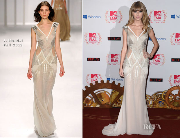 Taylor Swift In J Mendel - 2012 MTV EMAs