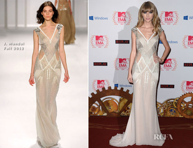 Taylor Swift In J Mendel - 2012 MTV EMAs2