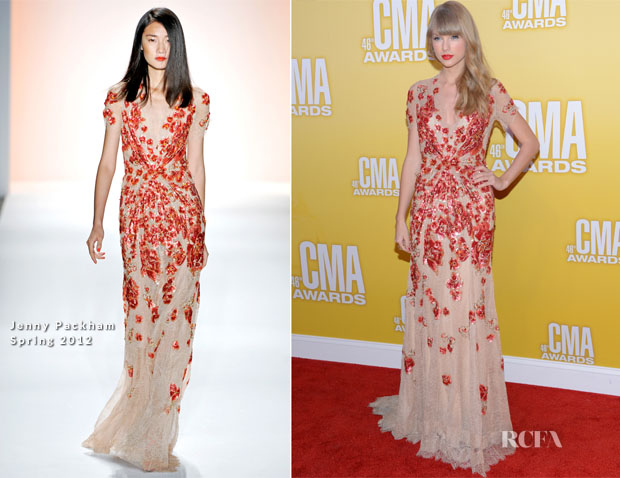 Taylor Swift In Jenny Packham - 2012 CMA Awards