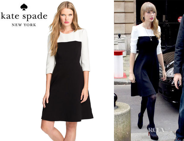 Taylor Swift's Kate Spade New York Olsen Colour Block Flare Dress
