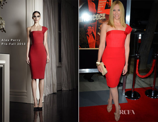 Toni Collette In Alex Perry Pre-Fall - 'Hitchcock' LA Premiere copy