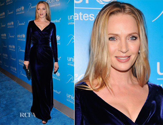 Uma Thurman In Atelier Versace - Unicef Snowflake Ball