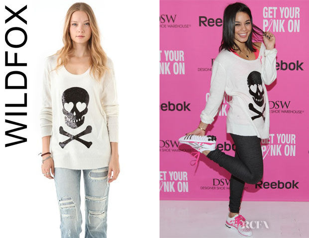 Vanessa Hudgens' Wildfox Sequin Love Skull Sweater
