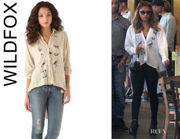 Vanessa White's Wildfox Fate Sunday Button Shirt