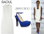 Viola Davis' Raoul Sleeveless Disc Tunic Dress And Jimmy Choo Tame Crystal Embellished Pumps