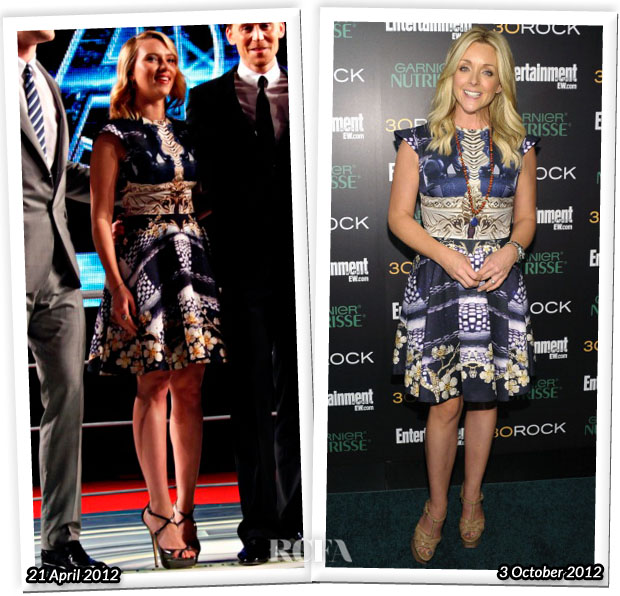 Who Wore Mary Katranzou Better Scarlett Johansson or Jane Krakowski