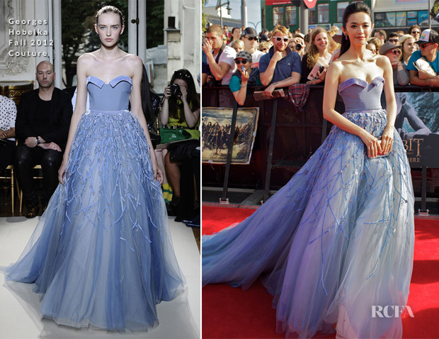 Yao Chen In Georges Hobeika - 'The Hobbit An Unexpected Journey' World Premiere