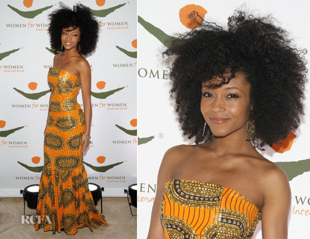 Yaya DaCosta In Tafari - 2012 Women for Women International Gala
