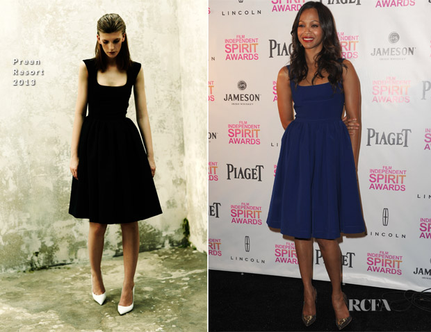 Zoe Saldana In Preen - 2013 Film Independent Spirit Awards Nominations Announcement