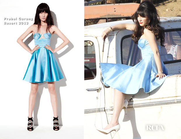 Zooey Dechanel In Prabal Gurung - LA Photo Shoot
