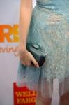 Anna Kendrick's Swarovski metallic python 'Nirvana Star' box clutch