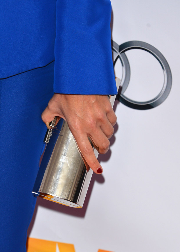 Rashida Jones' Jimmy Choo clutch