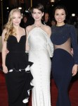 Amanda Seyfried in Balenciaga, Anne Hathaway in Givenchy Couture and Samantha Barks in Stella McCartney