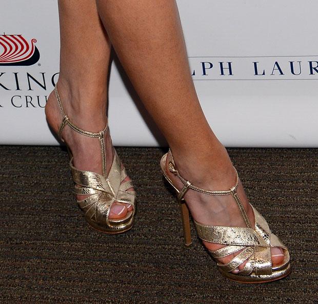 Joanne Froggatt's Nicholas Kirkwood sandals