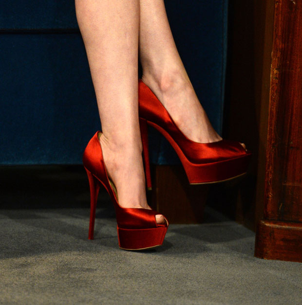 Anne Hathaway's Casadei heels