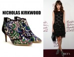 Alexa Chung's Nicholas Kirkwood Belle Epoque Embroidered Mesh Boots