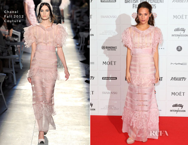 Alicia Vikander In Chanel Couture - British Independent Film