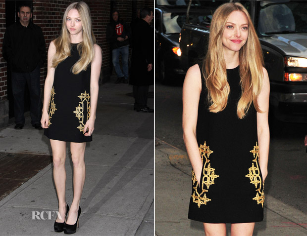 Amanda Seyfried In Michael Kors - Late Show with David Letterman