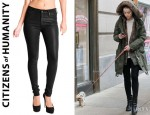 Amber Heard's Citizens of Humanity Rocket Skinny Leatherette Jeans